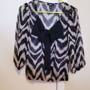 BCX blouse with bow in center